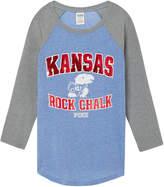PINK University of Kansas Bling Perfect Baseball Tee