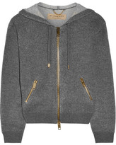 Burberry Cashmere And Cotton-blend Hooded Top - Gray