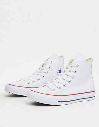 Converse Chuck Taylor All Star Hi white leather trainers