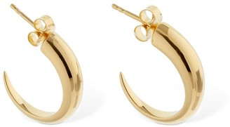 Missoma Claw Medium Plain Hoop Earrings