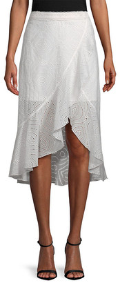 Allison New York Eyelet Midi Skirt