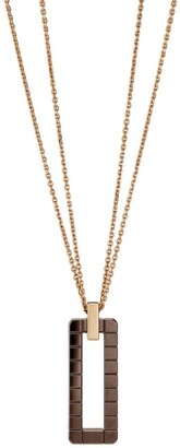 Chopard Rose Gold and Brown Ceramic Ice Cube Pure Pendant Necklace
