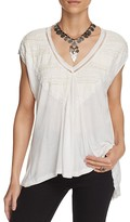 Free People Abigail Lace-Detail Tee