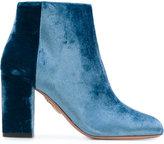 Aquazzura Brooklyn Velvet Ankle Boots