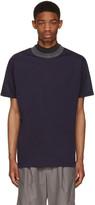 Kolor Navy Contrast Neck T-Shirt