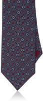 Brioni Men's Medallion-Print Silk Satin Necktie