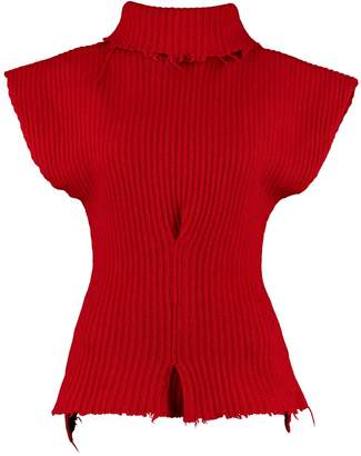 Taverniti So Ben Unravel Project Ribbed Wool Turtleneck Sweater