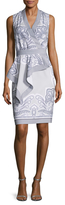 Ava & Aiden Drape Panel Sheath Dress