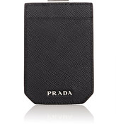 Prada Men's Money-Clip Card Case-BLACK