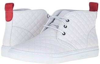 Del Toro High Top Chukka Sneaker (White Quilted) Men's Shoes