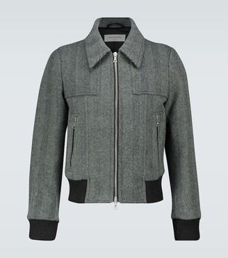 Dries Van Noten Zipped herringbone jacket