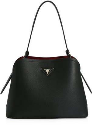 Prada Small Matinee Leather Top Handle Bag