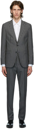HUGO BOSS Grey Striped Novan Suit