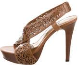 Diane von Furstenberg Leather Cutout Platform Sandals