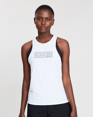 Reebok Performance - Women's White Muscle Tops - Crossfit ACTIVChill Tank Top - Size M at The Iconic