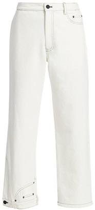 Monse Upside Down Straight-Leg Cropped Jeans