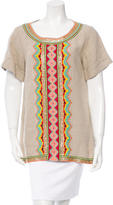 Matthew Williamson Embellished Linen Top