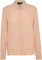 Oxford Poppy Crepe Blouse Nude X