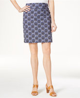 Charter Club Medallion-Print Pull-On Skort, Only at Macy's