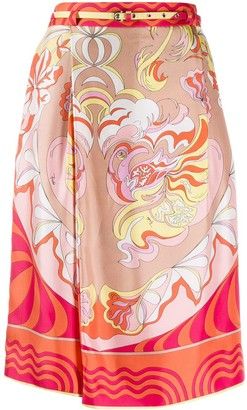 Emilio Pucci Printed Silk Knee-Length Shorts