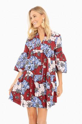 Warm Burgundy Multi Garden Dress