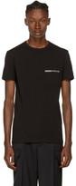 Versace Underwear Black Greek Logo Pocket T-shirt