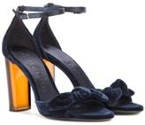 Burberry Jeanette Velvet Sandals