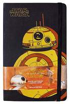 "Moleskine Star Wars Notebook, Hard Cover, College Ruled, 240 sheets, 5"" x 8"" - BB8"