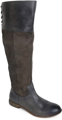 ROAN Tall Leather Riding Boots - Natty