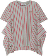 Opening Ceremony Striped Stretch-cotton Jersey T-shirt - Gray