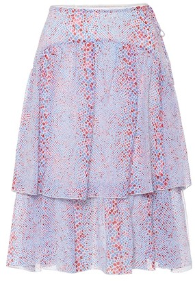 See by Chloe Printed cotton and silk midi skirt