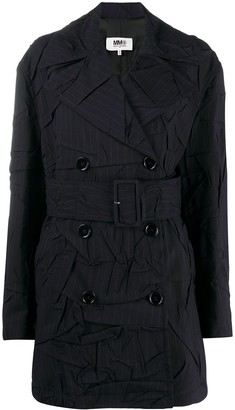 MM6 MAISON MARGIELA Pinstripe Short Trench Coat