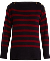 Vanessa Bruno Harper striped wool and cashmere-blend sweater