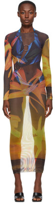 Louisa Ballou SSENSE Exclusive Orange High Tide Dress