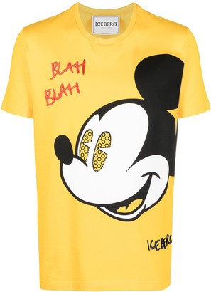 Iceberg Mickey-print cotton T-shirt