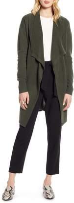 Halogen Cashmere Long Drape Front Cardigan