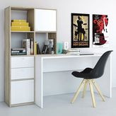 Tvilum Wakefield Two-Tone Bookshelf Desk
