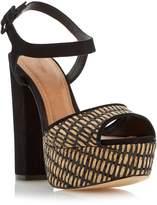 Dune INGA - Raffia Platform Block Heel Sandal