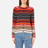 Paul Smith Women's Stripe Cardigan Red/Pink