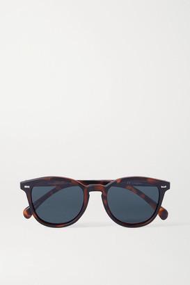 Le Specs Bandwagon Round-frame Tortoiseshell Acetate Polarized Sunglasses