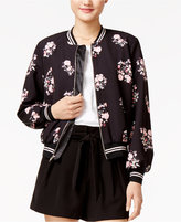 SHIFT Juniors' Floral-Print Bomber Jacket, Only at Macy's