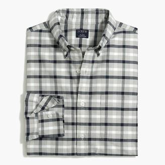 J.Crew Tattersall regular flex oxford shirt