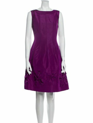 Oscar de la Renta 2008 Knee-Length Dress Purple