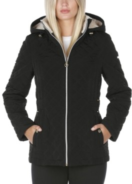 Laundry by Shelli Segal Petite Sherpa-Lined Quilted Coat