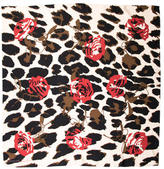 Kenneth Jay Lane Rose Printed Scarf