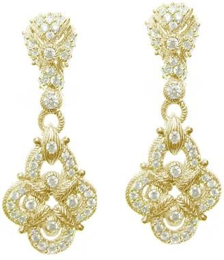 Judith Ripka 14K Clad & Diamonique Pave Earrings