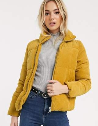 JDY Lexa padded corduroy jacket-Yellow