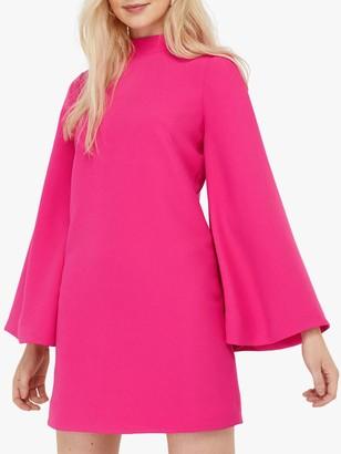 Monsoon Sadie Fluted Sleeve Mini Dress, Pink