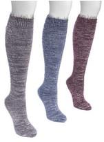 Muk Luks Women's Feather Yarn Knee High Sock (3 Pairs)
