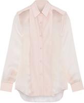 Pallas Fedoral faille-paneled silk-organza shirt